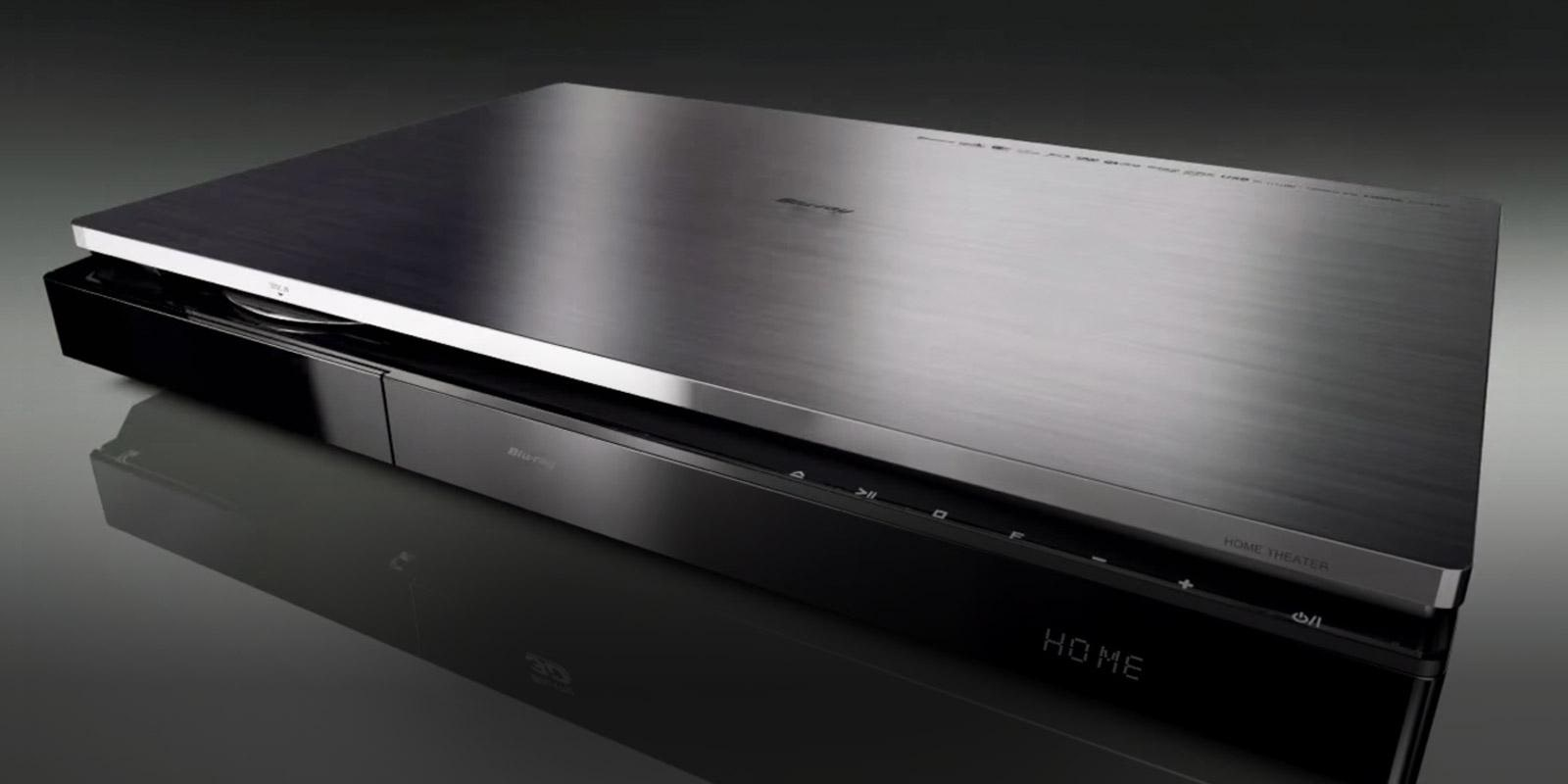 Close-up view of a black and chrome LG Blu-ray player.