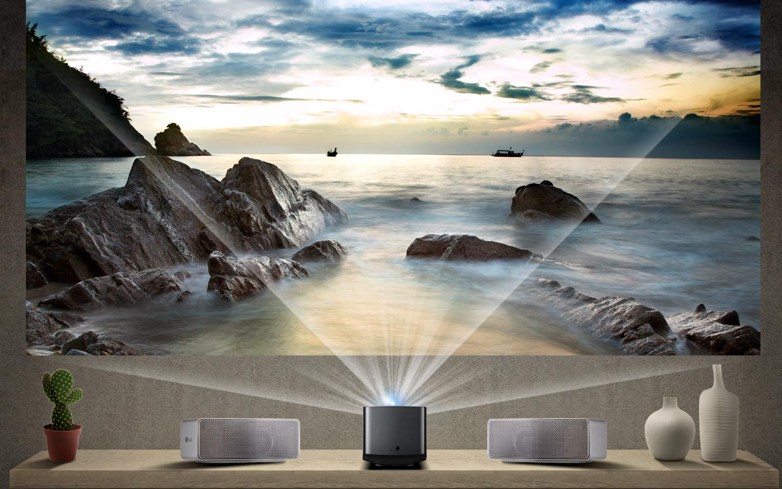 Lg Pf1000uw Ultra Short Throw Led Home Theater Projector