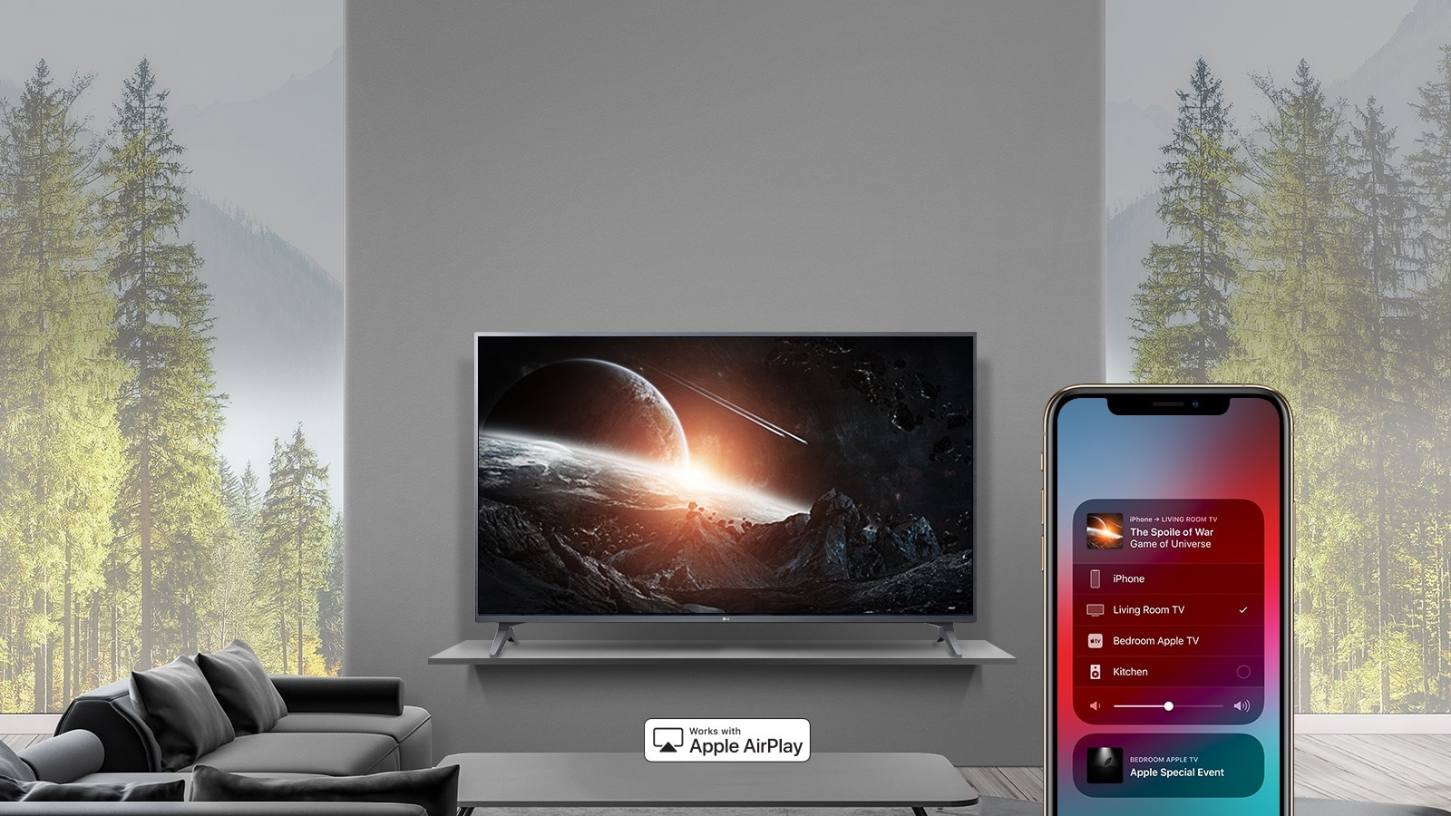 LG 55 inch Class 4K Smart UHD TV w/ AI ThinQ® (54 6'' Diag)