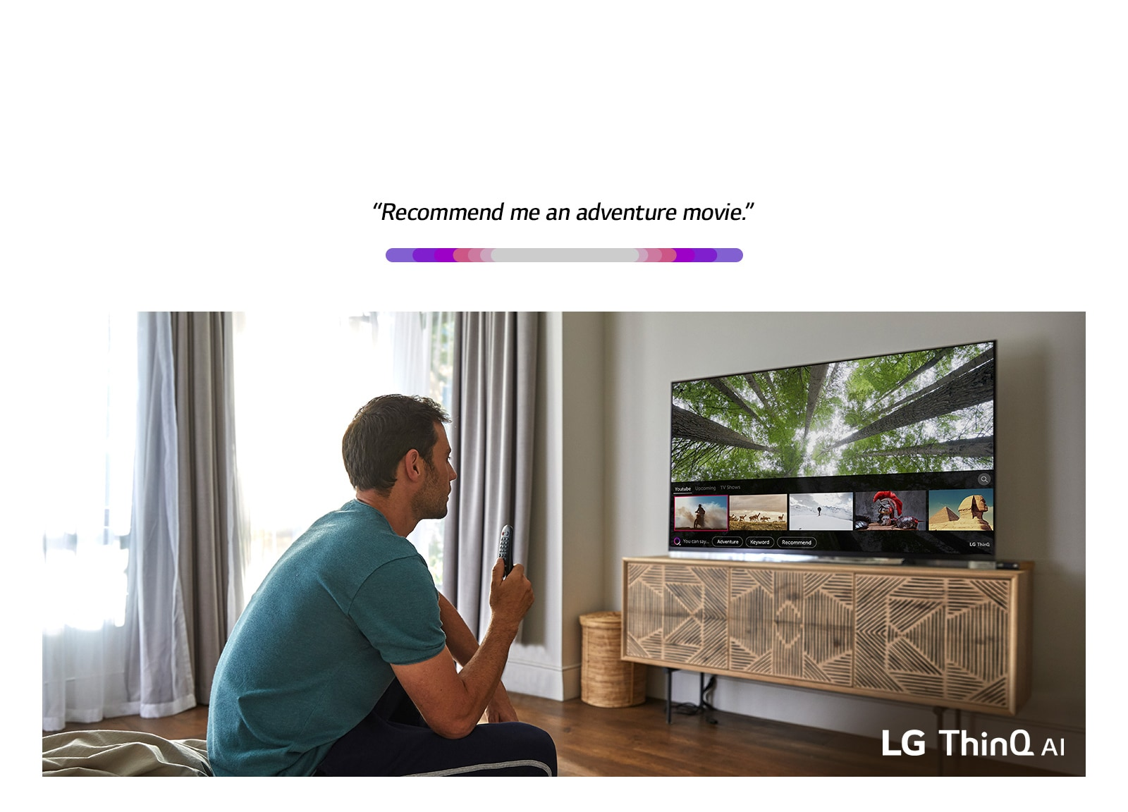 LG TVs with AI ThinQ®: Listen  Think  Answer  TV Evolution