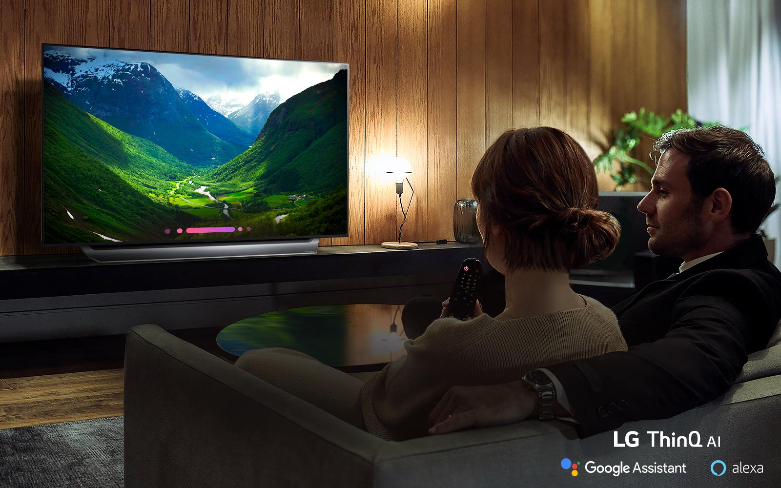 Introducing a more intelligent TV with LG ThinQ® AI1