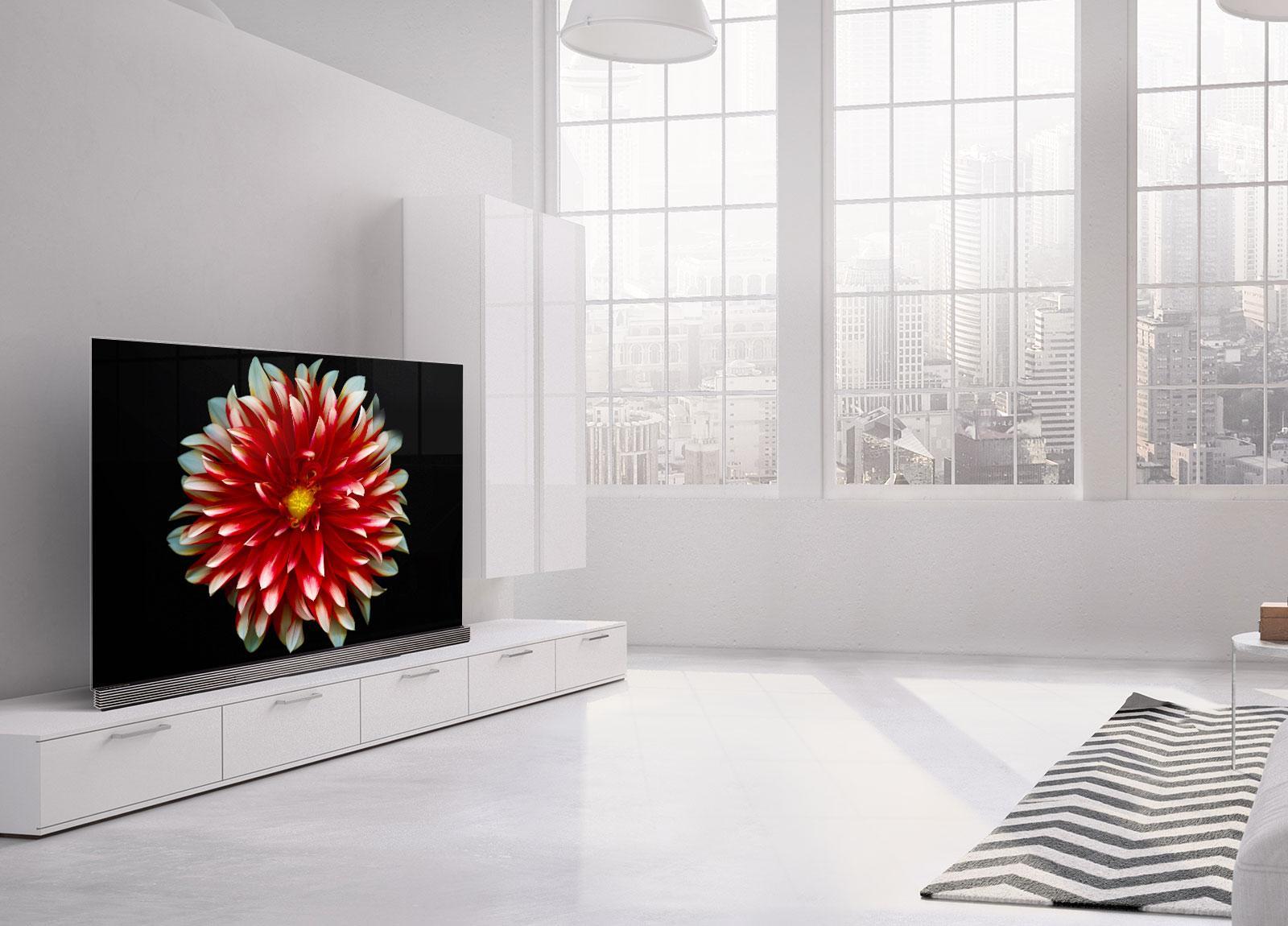 Lg Oled 65g7v # Meuble Tv Mural Blanco