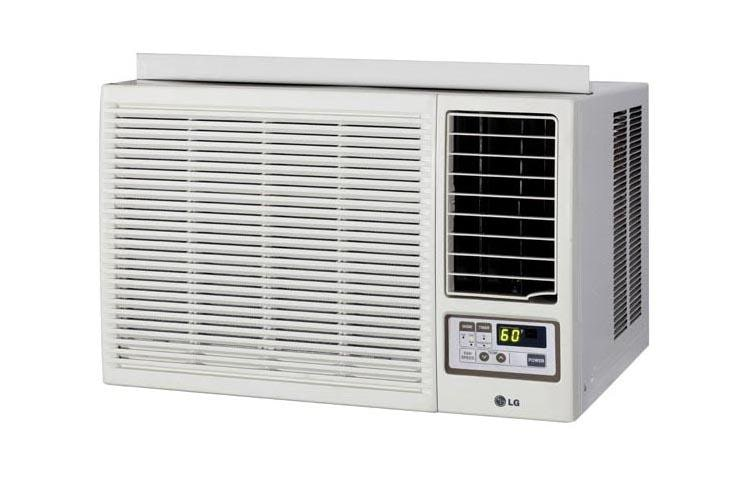 lg 18 000 btu heat cool window air conditioner with remote