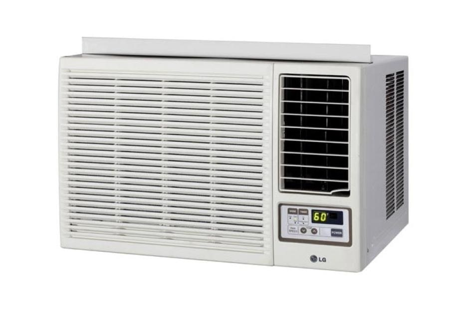 Lg 23 500 btu heat cool window air conditioner with remote for 12 inch high window air conditioner