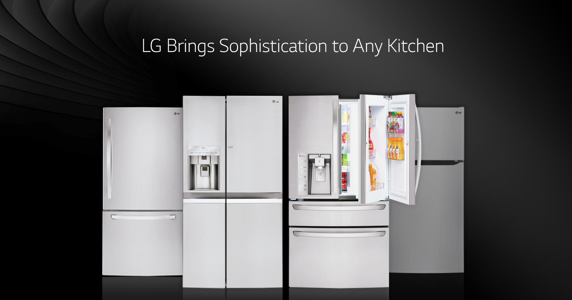 Lg refrigerators smart innovative energy efficient lg usa super capacity 4 door french door rubansaba