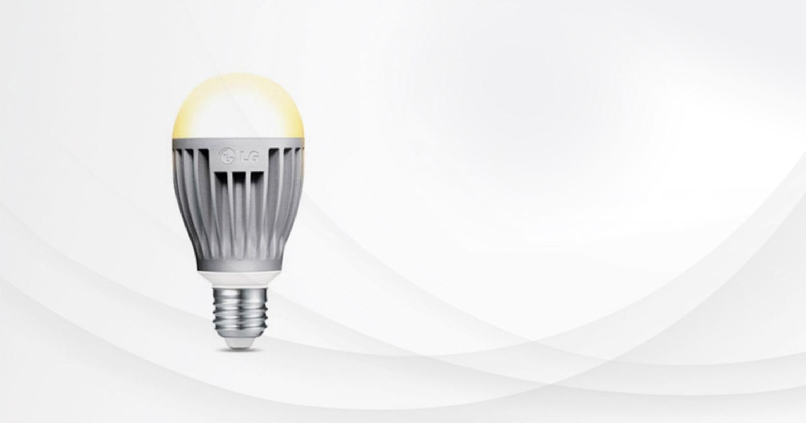 Front view of an LG 60 Watt Equivalent A19 bulb. : life led lighting - azcodes.com