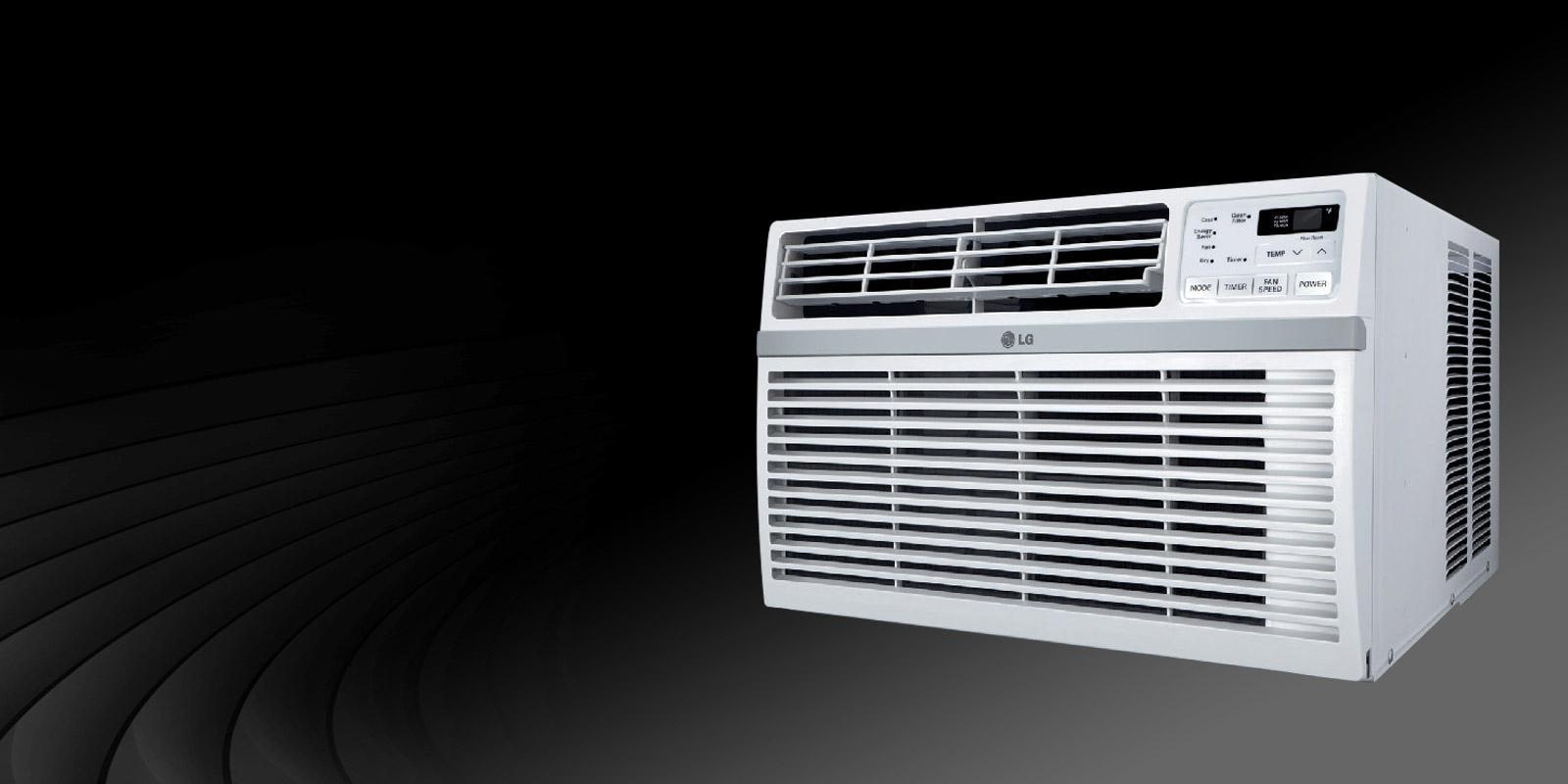 Front View Of An LG Window Air Conditioner.