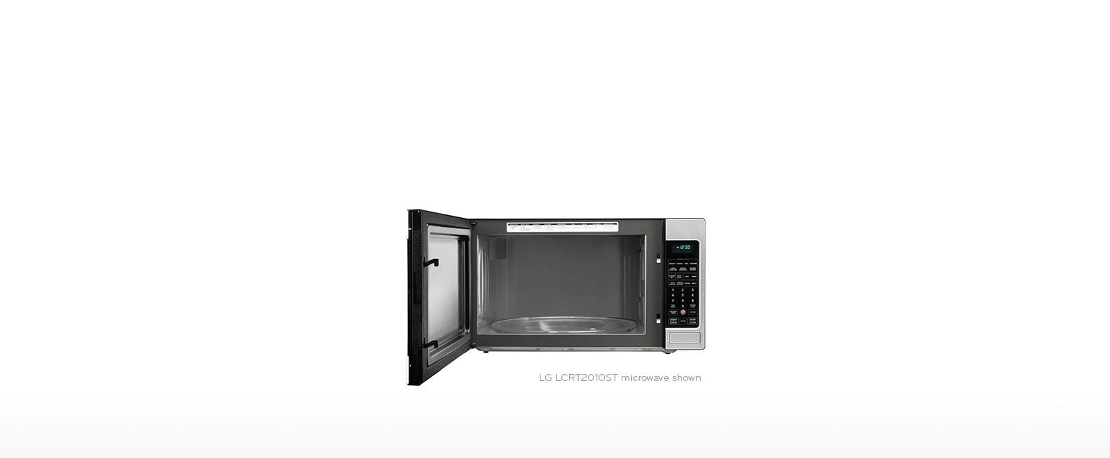 Lg Lcrt1513st 1 5 Cu Ft Countertop Microwave Oven With