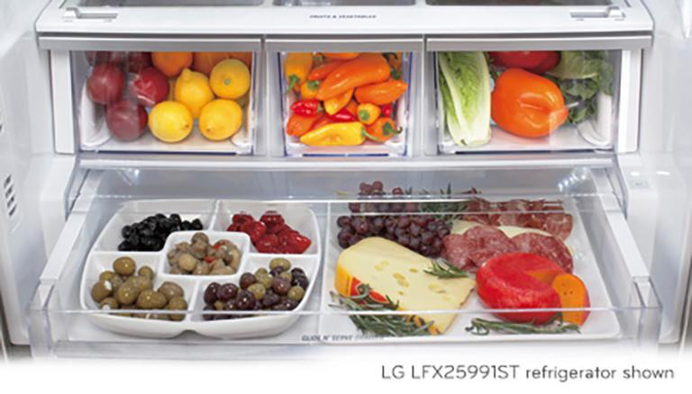 Lg Lfc22770sw 30 Inch Wide 3 Door French Door Refrigerator Lg Usa