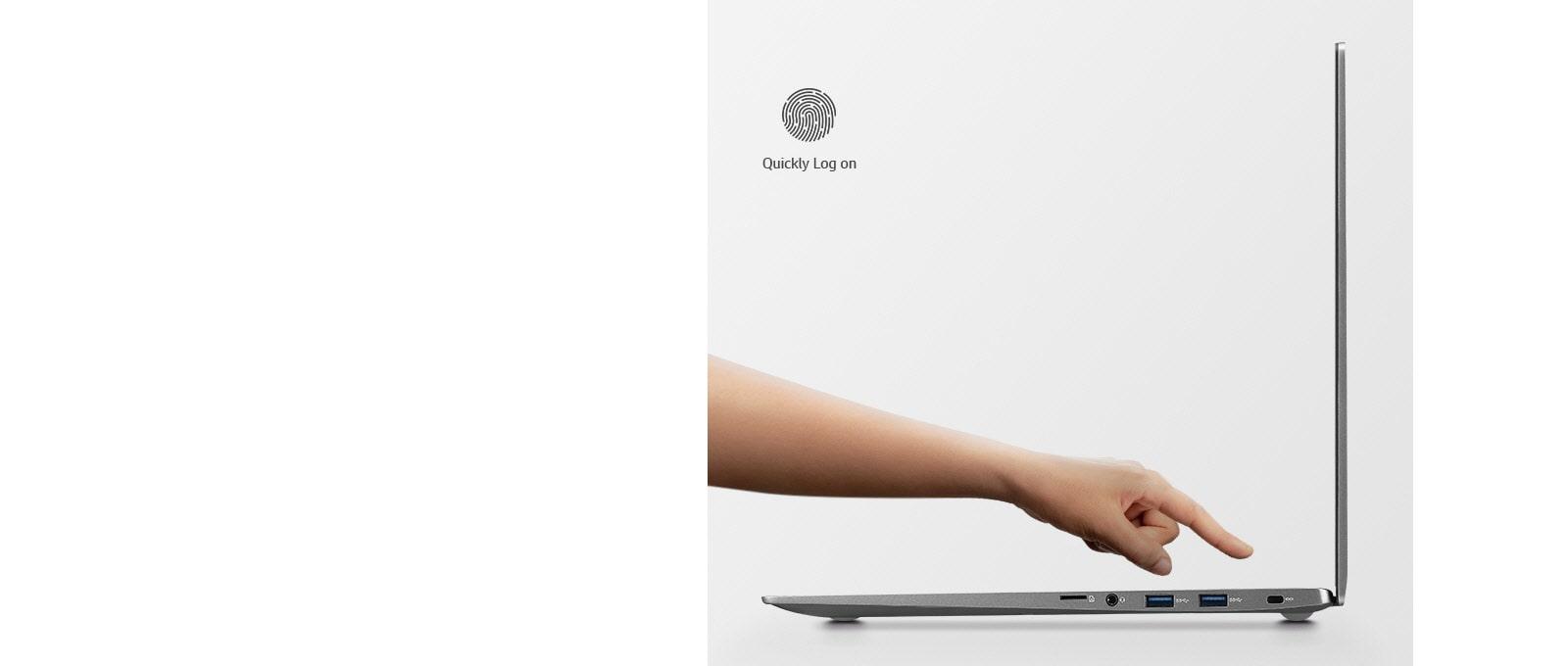 15.6 inch gram laptop Fingerprint Reader