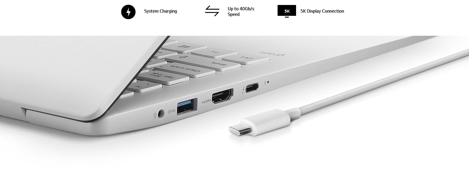 17 inch gram laptop Thunderbolt 3 port