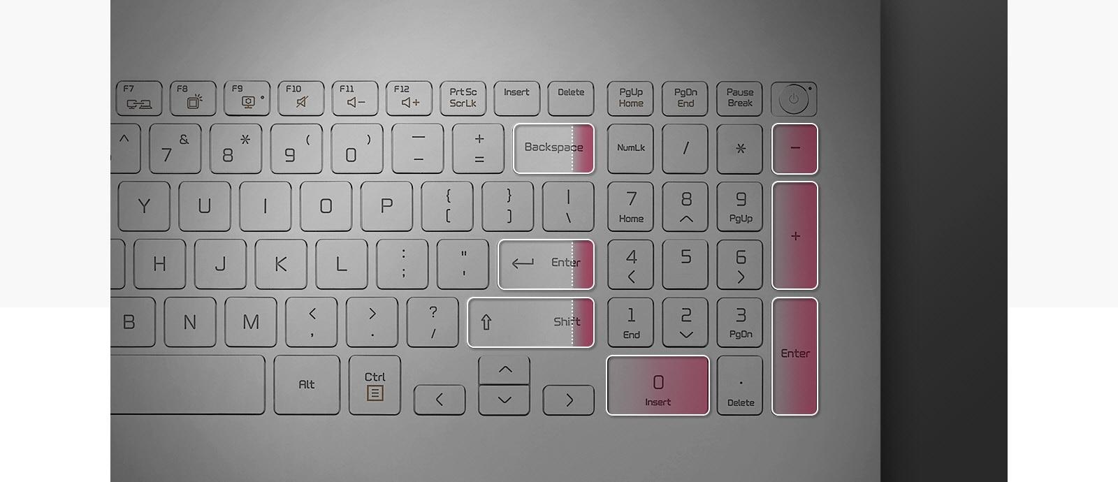 17 inch gram laptop numeric keypad