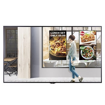 "55"" XS4F series High Brightness Window Facing Indoor Digital Display with auto brightness control, webOS 3.0 and Quad Core SoC1"