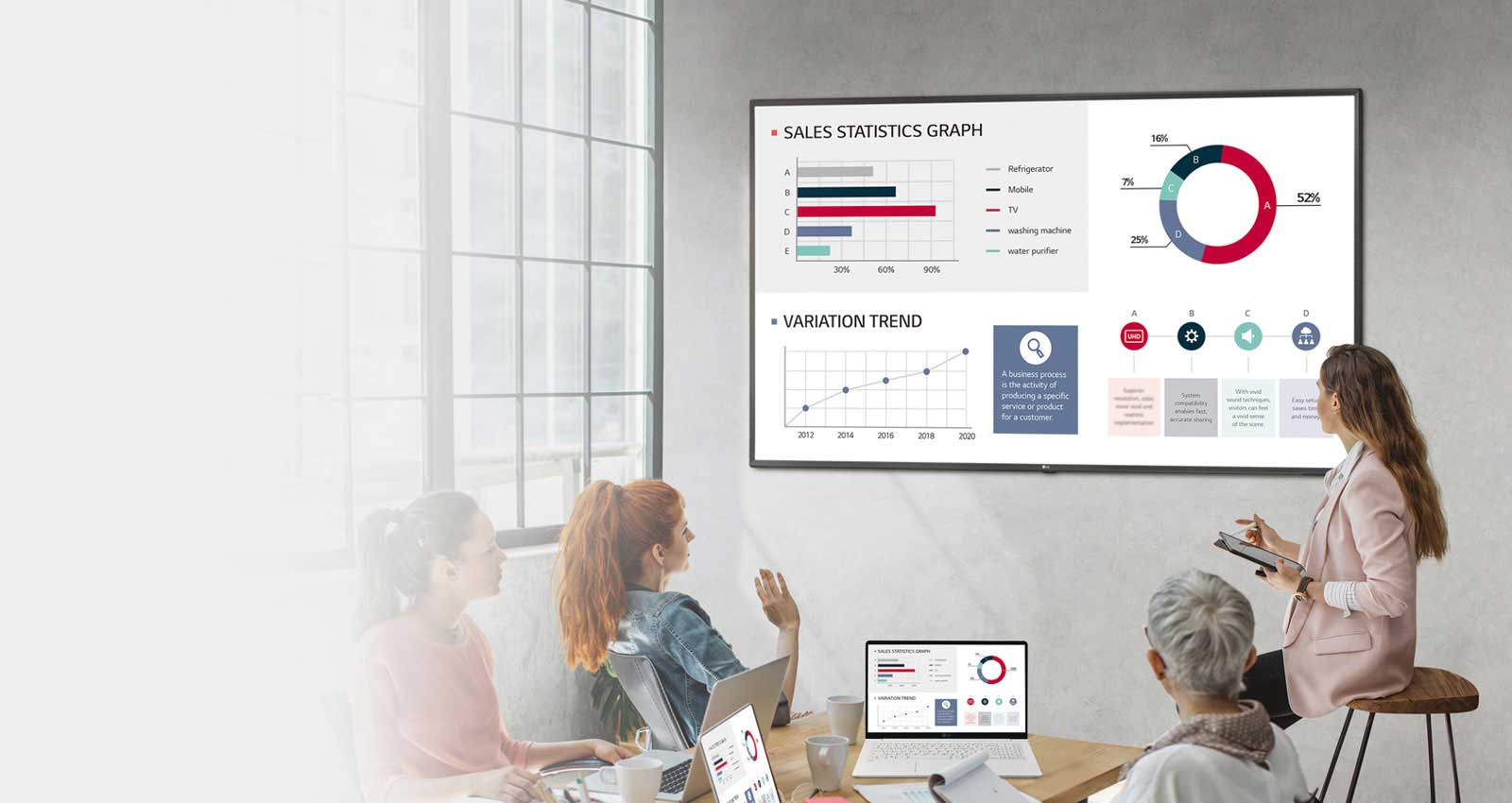 43UL3G-B Display Monitor in Conference Room