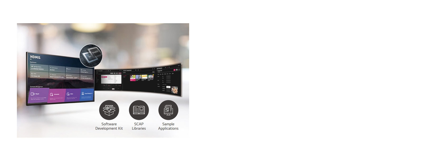 43UL3G-B Signage Monitor has Built-in Quad Core SoC with webOS 4.0