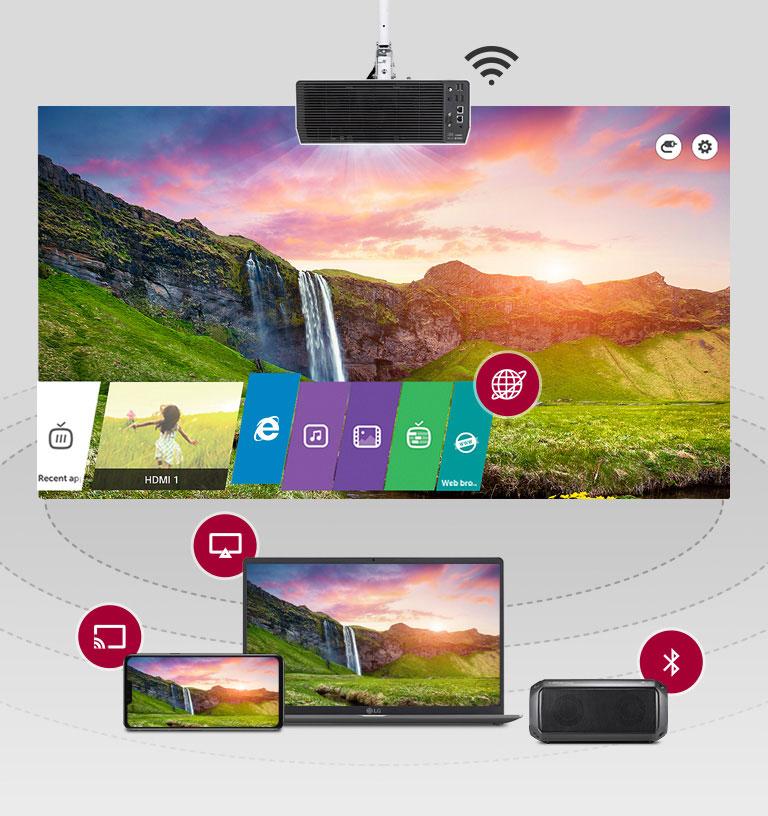 LG ProBeam 4K Laser Projector Smart Wireless