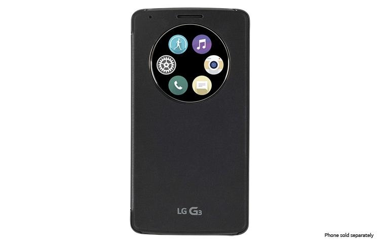 LG Quick Circle Wireless Charging Folio Case For LG G ATT - Clever magnetic wall clock charges phone wirelessly