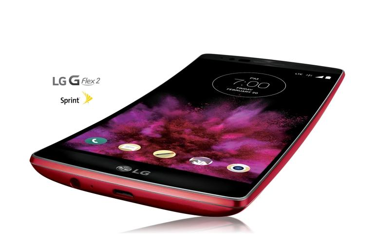 Cell Phones LG G Flex2 Sprint in Volcano Red thumbnail 1