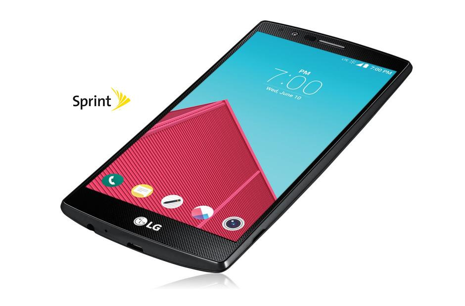 Cell Phones LG G4 Sprint in Genuine Leather Black 1