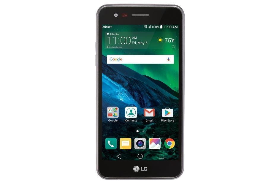 Lg Fortune Smartphone For Cricket Wireless M153 In Black Lg Usa