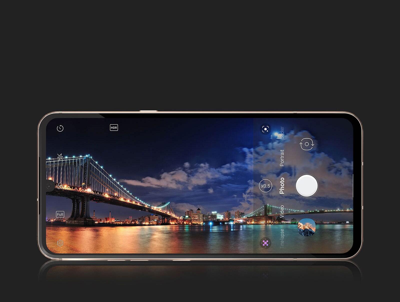 Teléfono con cámara ultra gran angular