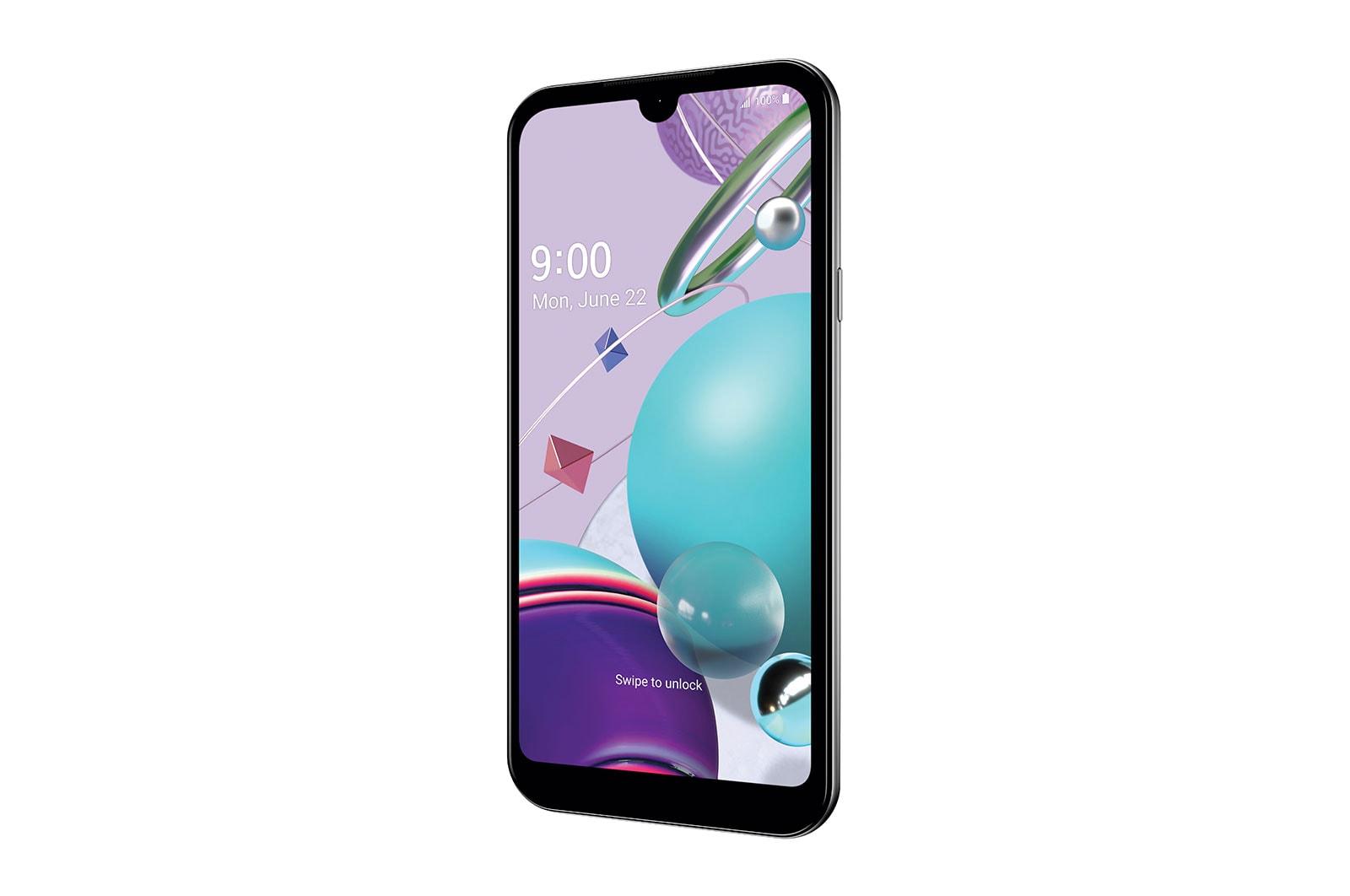 LG K31™ | Spectrum Mobile, Front Vertical Left, LMK300QM6ARCHSV