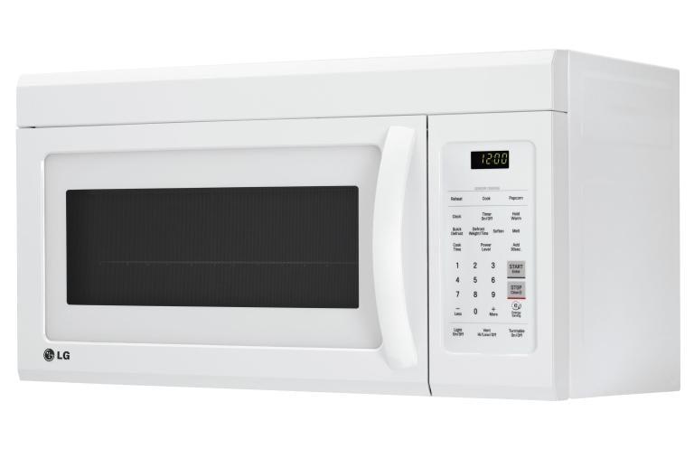 Lg Lmv1831sw 1 8 Cu Ft Over The Range Microwave Oven
