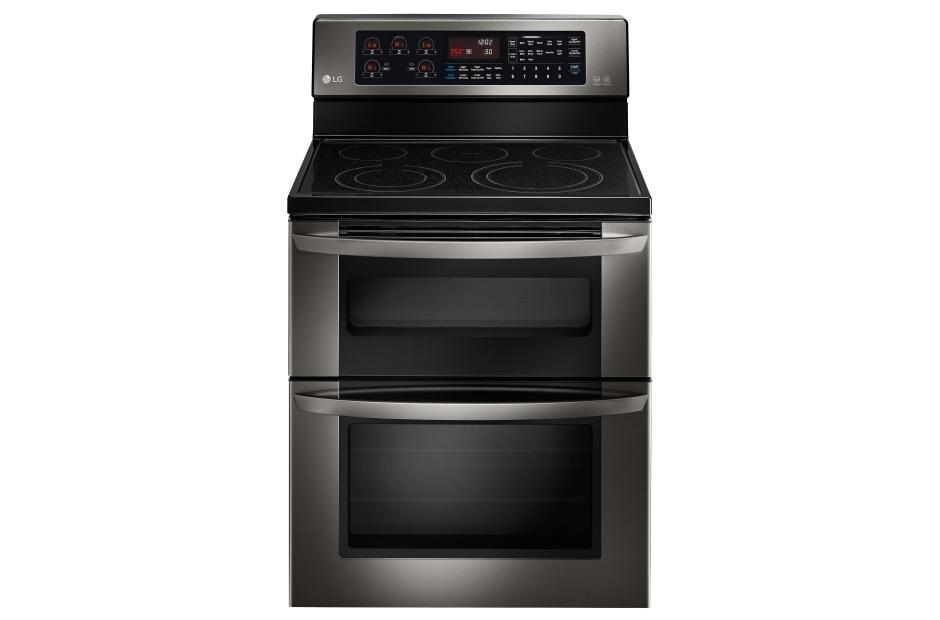 Lg Lde3037bd Black Stainless Steel Double Oven Range Lg Usa