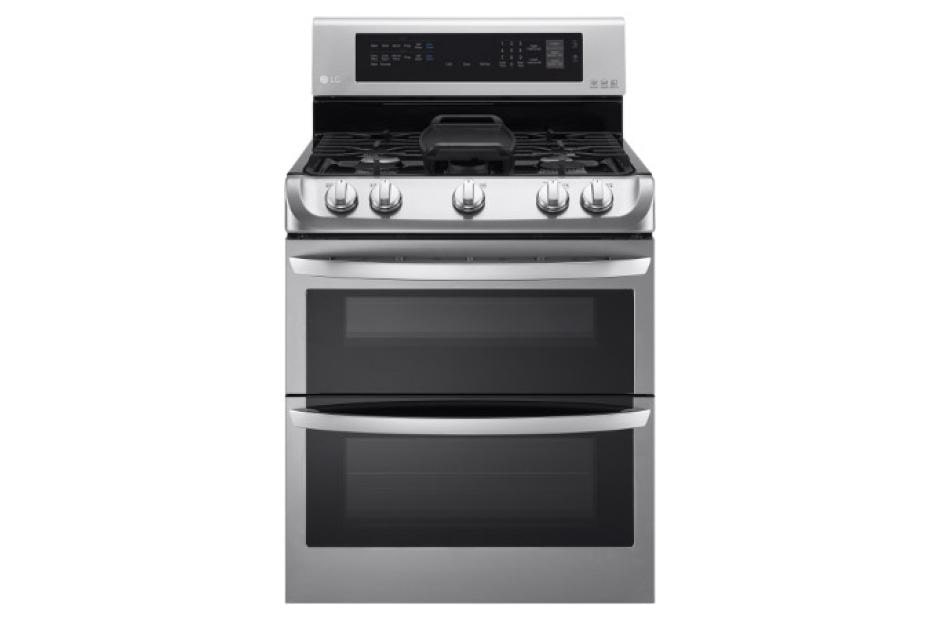 Gas Double Oven Range With Probake Convection Easyclean And Gliding Rack