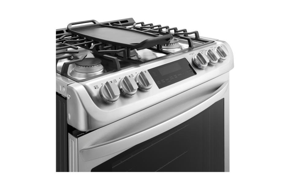 Lg 6 3 Cu Ft Gas Single Oven Slide In Range With Probake Convection And Easyclean Lsg4513st Lg Usa