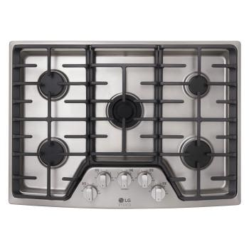 Gas Cooktop Inside Lg Studio 30 Lscg307st 30 Inch Gas Cooktop Usa