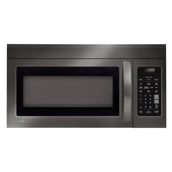 Lg Black Stainless Steel Series 1 8 Cu Ft Over The Range Microwave