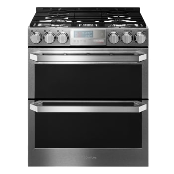 Great Gas Double Oven Slide In Range With