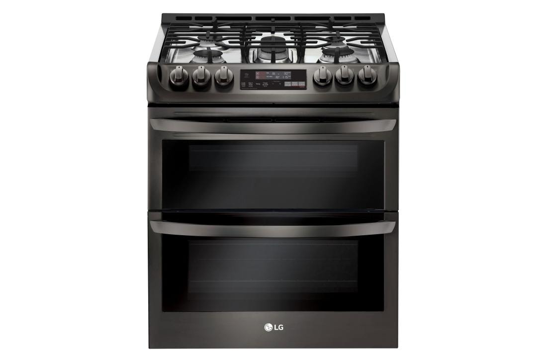 Smart Wi Fi Enabled Gas Double Oven Slide In Range With Probake Convection And Easyclean