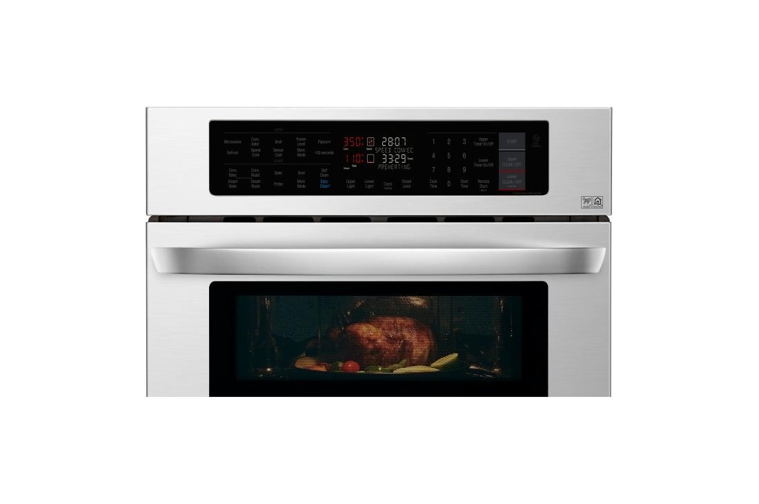 Lg 1 7 4 Cu Ft Smart Wi Fi Enabled Combination Double Wall Oven Lwc3063st Usa