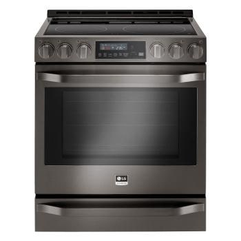 electric cooking stoves double smart wifi enabled electric slidein lg black stainless steel ranges ovens w gas or usa