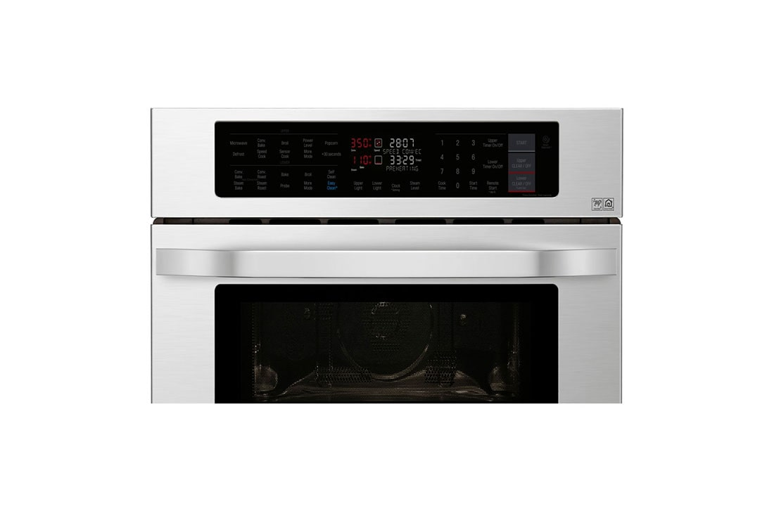 Lg Studio 1 7 4 Cu Ft Smart Wi Fi Enabled Combination Double Wall Oven