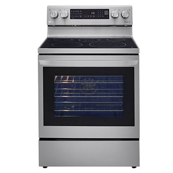 6.3 cu ft. Electric Single ThinQ® InstaView™ Range with Air Fry1