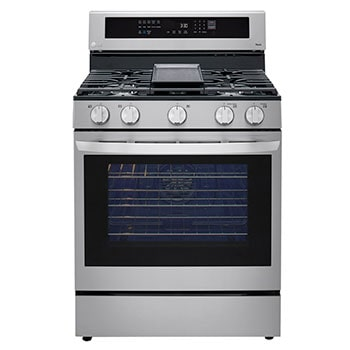 5.8 cu ft. Smart Wi-Fi Enabled True Convection InstaView™  Gas Range with Air Fry1
