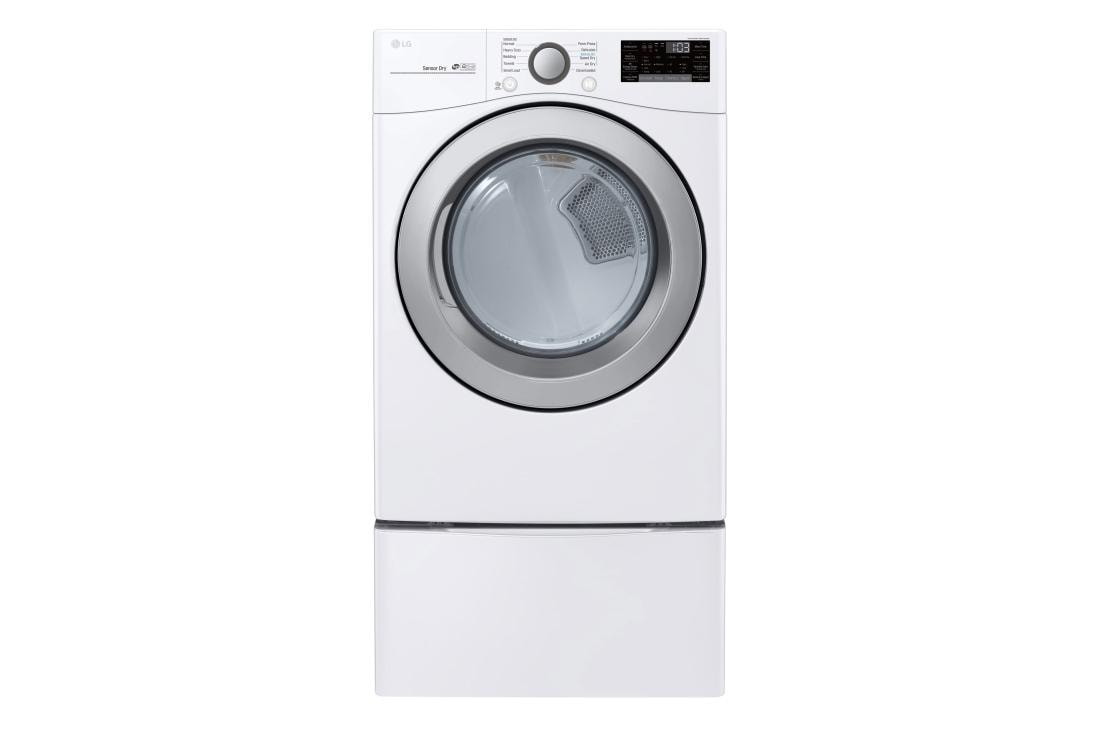 LG DLE3500W 7.4 Cu White Electric Dryer Ft