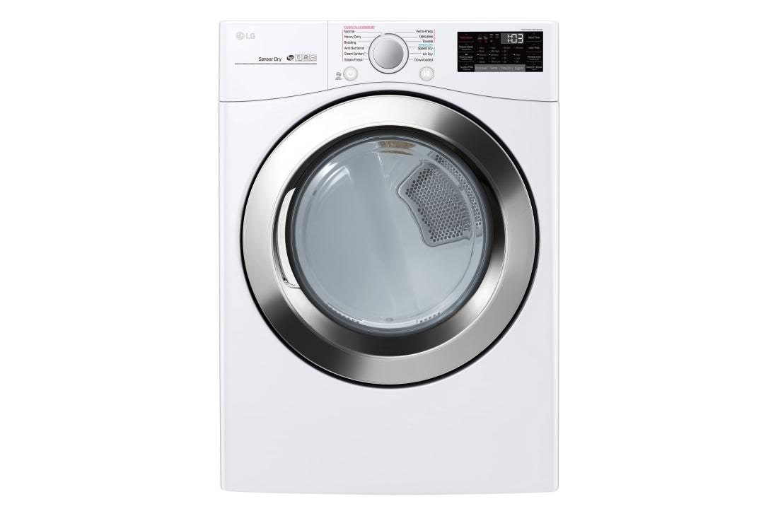 Lg Dlex3700w Ultra Large Capacity Steam Dryer With Nfc Tag On Lg Usa