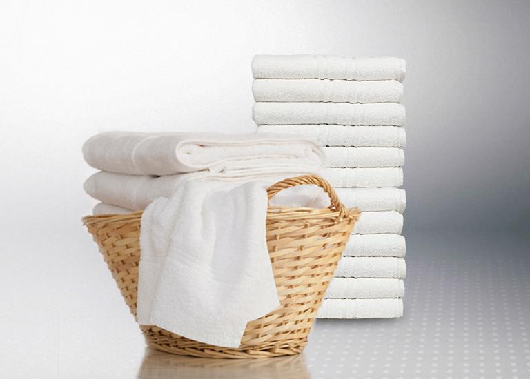 Ultra Large Capacity load of fresh towels