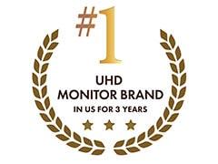 # 1 Thương hiệu màn hình UHD tại Mỹ trong 3 năm liên tiếp *