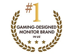#1 Gaming-Designed Monitor Brand in U.S.*1