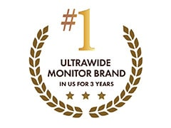 #1 UltraWide Monitor Brand in the U.S. 3 years in a row*1