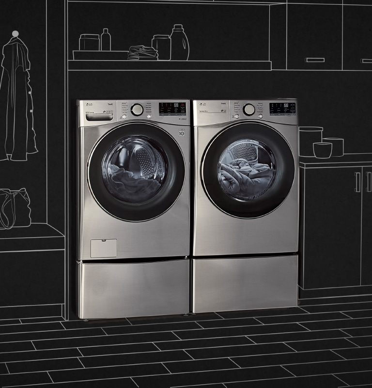 Washer and Dryer in closet setting
