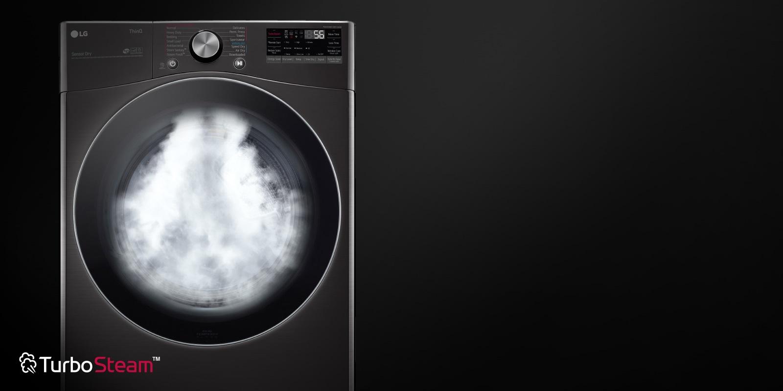 Dryer showcasing TurboSteam™ technology feature