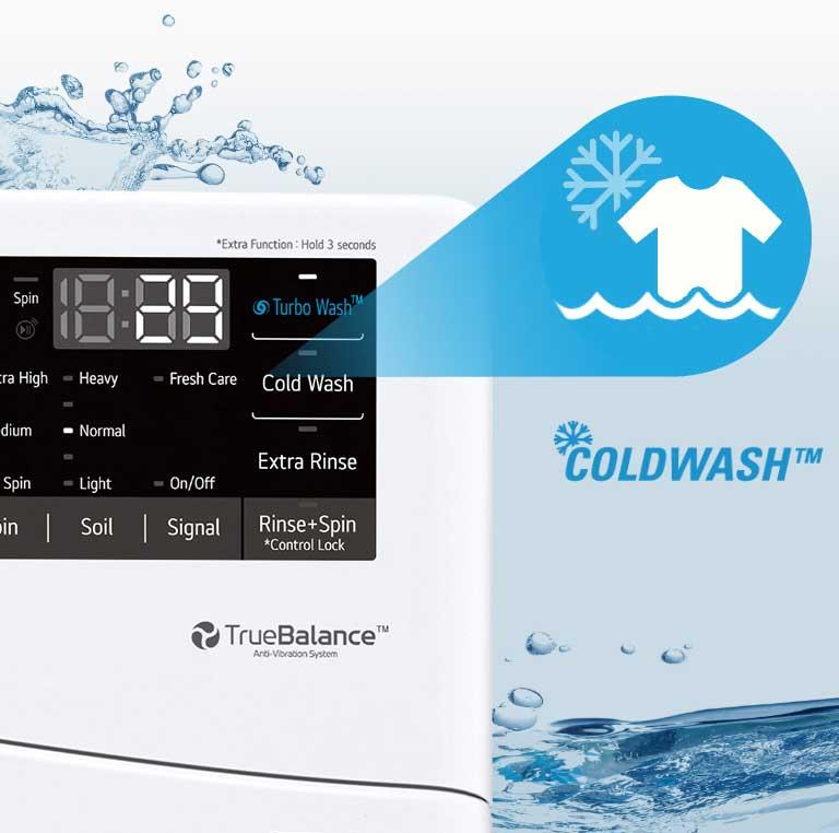 Washer showcasing ColdWash™ technology feature