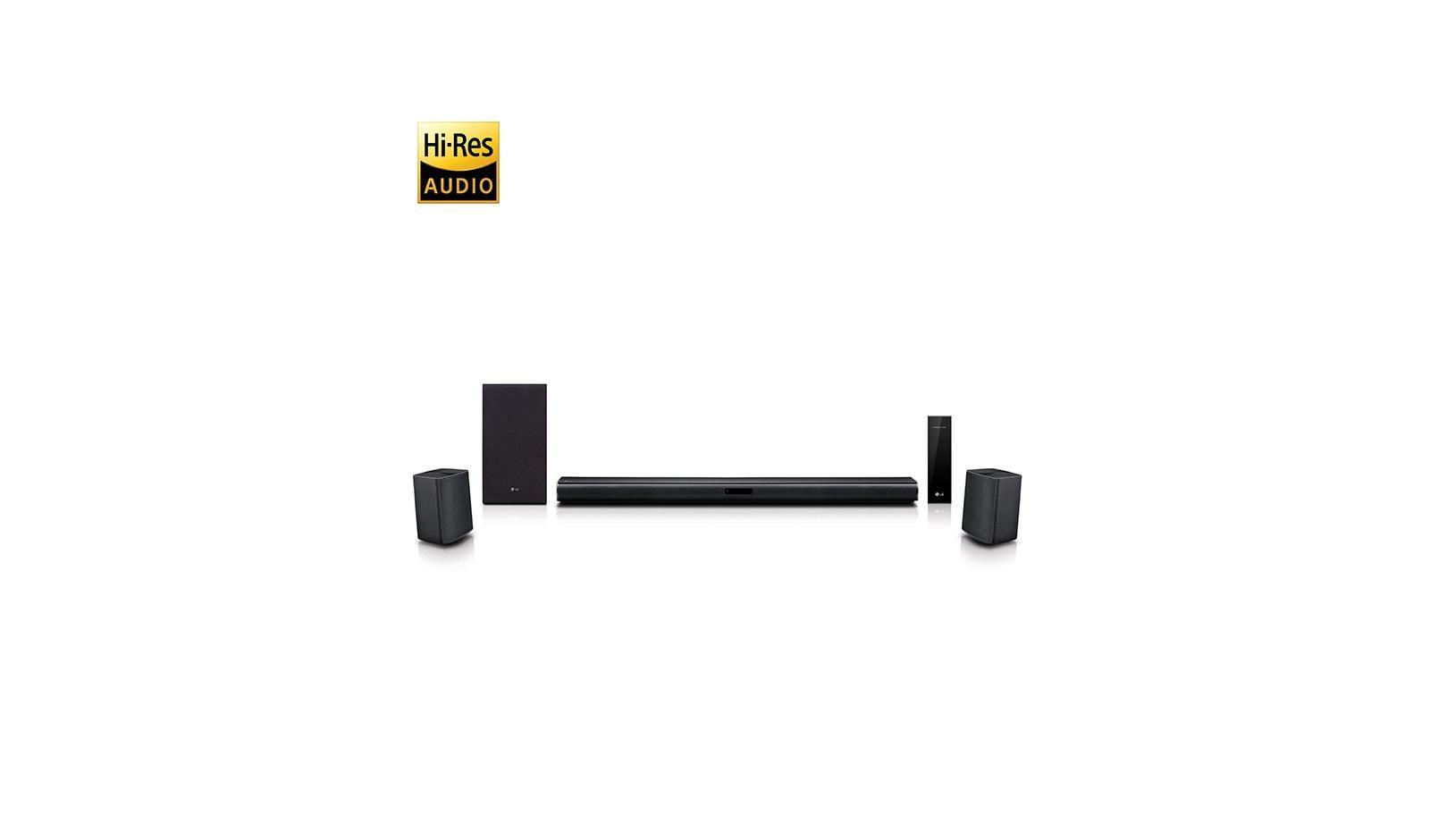 LG LASC58R: 4.1 Ch Sound Bar Surround System With Wireless Surround Sound  Speakers   LG USA