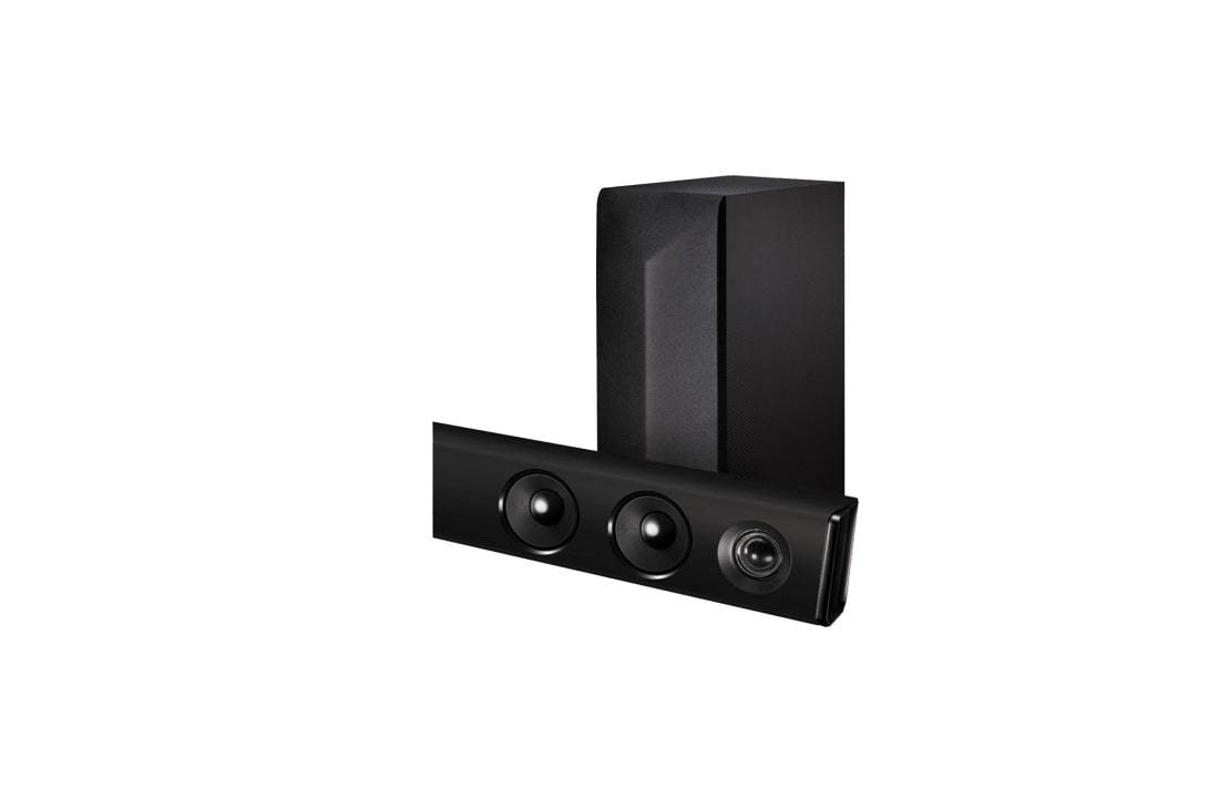 Lg Las475b 2 1ch 300w Sound Bar With Wireless Subwoofer And Bluetooth Connectivity Usa